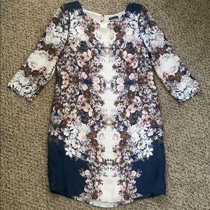 Vintage Massimo Dutti Floral Silk Dress